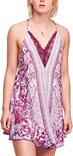 Intimately Free People Womens Love Bird Printed Lace Trim Casual Dress