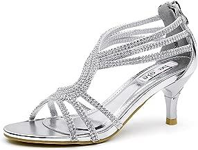 SheSole Women's Low Heel Dance Wedding Sandals Dress Shoes