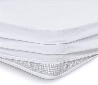 Bedecor Algod/ón Protector Colch/ón Cuna,Cubre Colch/ón Beb/é,Impermeable y Transpirable Hipoalerg/énico 60 x 120 cm