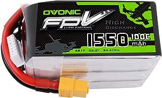 Ovonic 1550mAh 22.2V 6S 100C Lipo Battery for XT60 Plug for FPV Racing