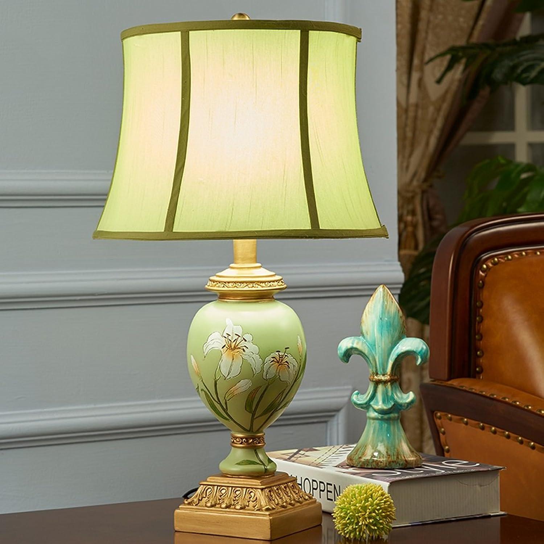 Handgemalte Harz-Tabellen-Lampen-kreative europäische Art-romantische Nachttischlampe B0742DDPBZ     | Erste Klasse in seiner Klasse