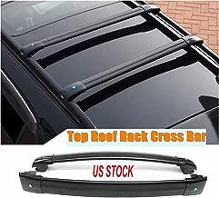 MotorFansClub Black Aluminum Top Roof Rack Cross Bar, Luggage Rack Cargo Rail for Jeep Cherokee 2014-2019