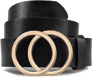 Black Belts for Woman Leather Belt for Jeans Fashion Desinger Waist Belt LOKLIK (S)