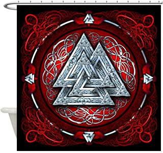 CafePress Norse Valknut Tapestry - Red Shower Curtain Decorative Fabric Shower Curtain (69