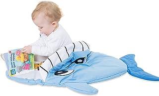 all Kids United all Kids United Kinder-Schlafsack aus Baumwolle Strampler Fußsack, Kinderwagen Pucksack, Baby-Schlafsack Wintersack für Mädchen und Jungen 85 x 70 x 6 cm - Wal-Fisch