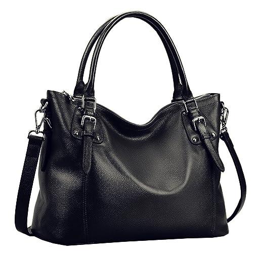 6476f3285cb6 Heshe Womens Genuinne Leather Handbags Tote Top Handle Bag Shoulder Bag for  Women Crossbody Bags Ladies