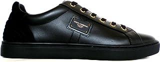 9d888854c0 Dolce & Gabbana - Zapatillas de Cuero para Hombre Negro Negro