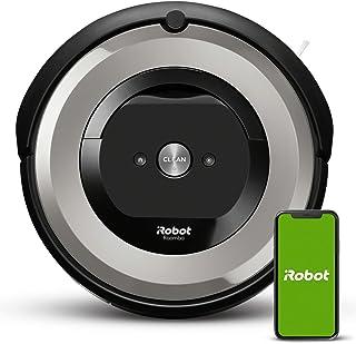 iRobot Roomba e5154 Robotstofzuiger met wifi-verbinding met dubbele rubberen borstels voor alle vloertypen - Ideaal voor h...