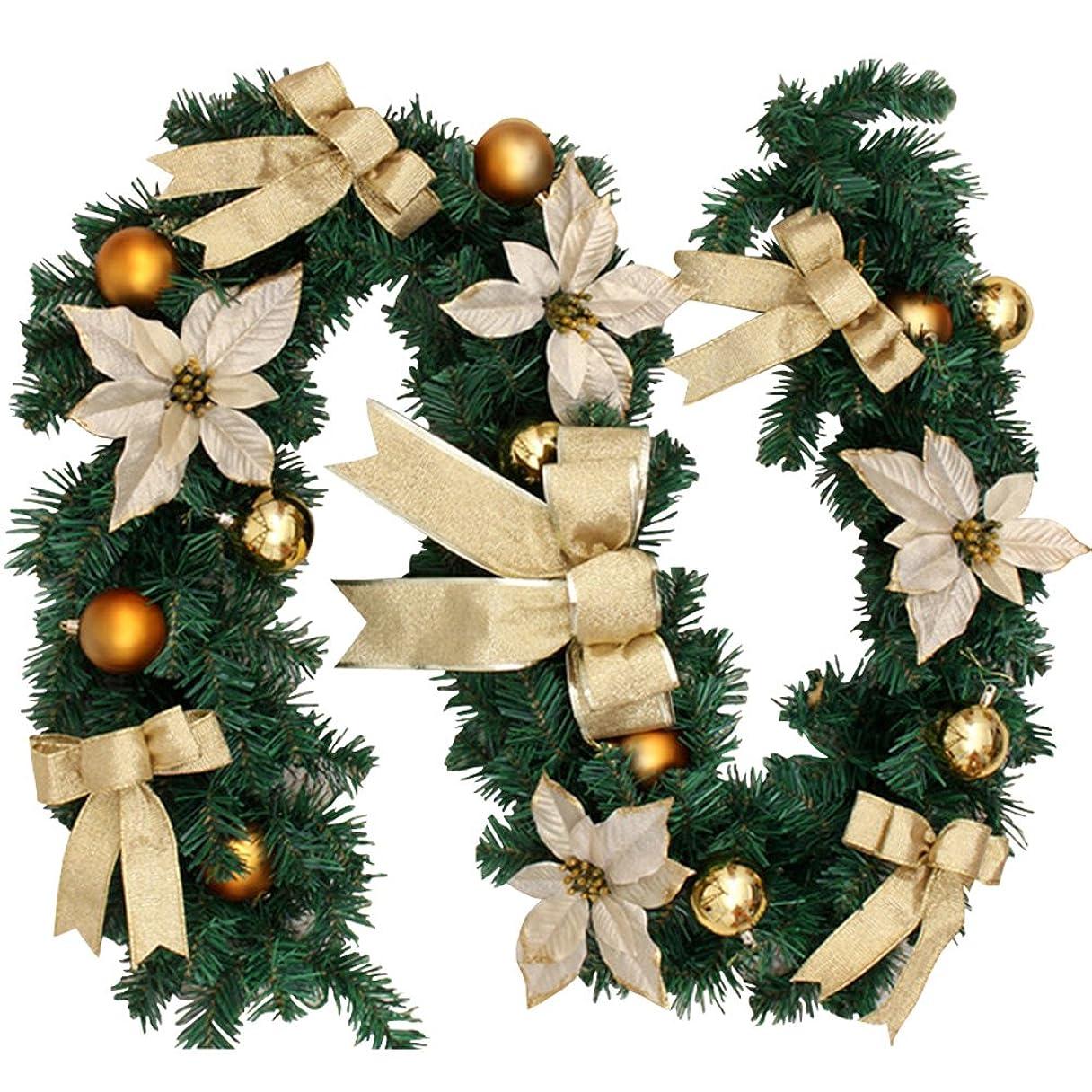 項目修正罪クリスマス ガーランド クリスマスリース クリスマス飾り 1.8m クリスマスツリー 飾り パーティー装飾藤 クリスマス オーナメント クリスマスツリー装飾  松の葉モール 部屋 玄関 飾り 装飾品 華やか デコレーション オーナメント クリスマス用品
