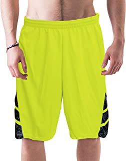 Men's Active Long Mesh Athletic Performance Basketball Shorts with Pockets by 6Th Man