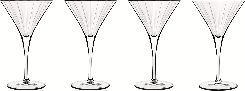Luigi Bormioli Bach 8.25 New sales oz Martini 4 Glasses latest of Clear Set