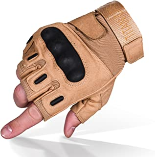 TitanOPS Fingerless Hard Knuckle Motorcycle Military...