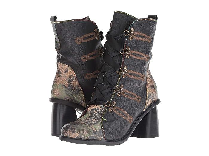 Vintage Boots- Buy Winter Retro Boots LArtiste by Spring Step Mardina Black Multi Womens Shoes $135.99 AT vintagedancer.com