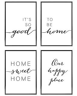 Heimlich® Tableau Décoration Murale - sans Cadres - Set de Poster Premium pour la Maison, Bureau, Salon, Chambre, Cuisine ...