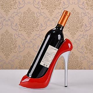 WINOMO Haut Talon Chaussures support pour bouteille de vin Casier à vin Décoration de la Maison Ornements Crafts (Rouge)
