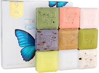 Fleur D' Extase (Ecstacy) Soap 25 Gram Bars Of Guest Soaps - All Natural (Gift Set of 9 Soaps)