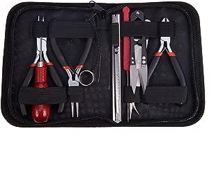 Pandahall-1 Serie juegos de herramientas de la joyeria DIY, con capas, tijeras y alfileres, negro, alicate para hacer bisuteria 155x110x35 mm