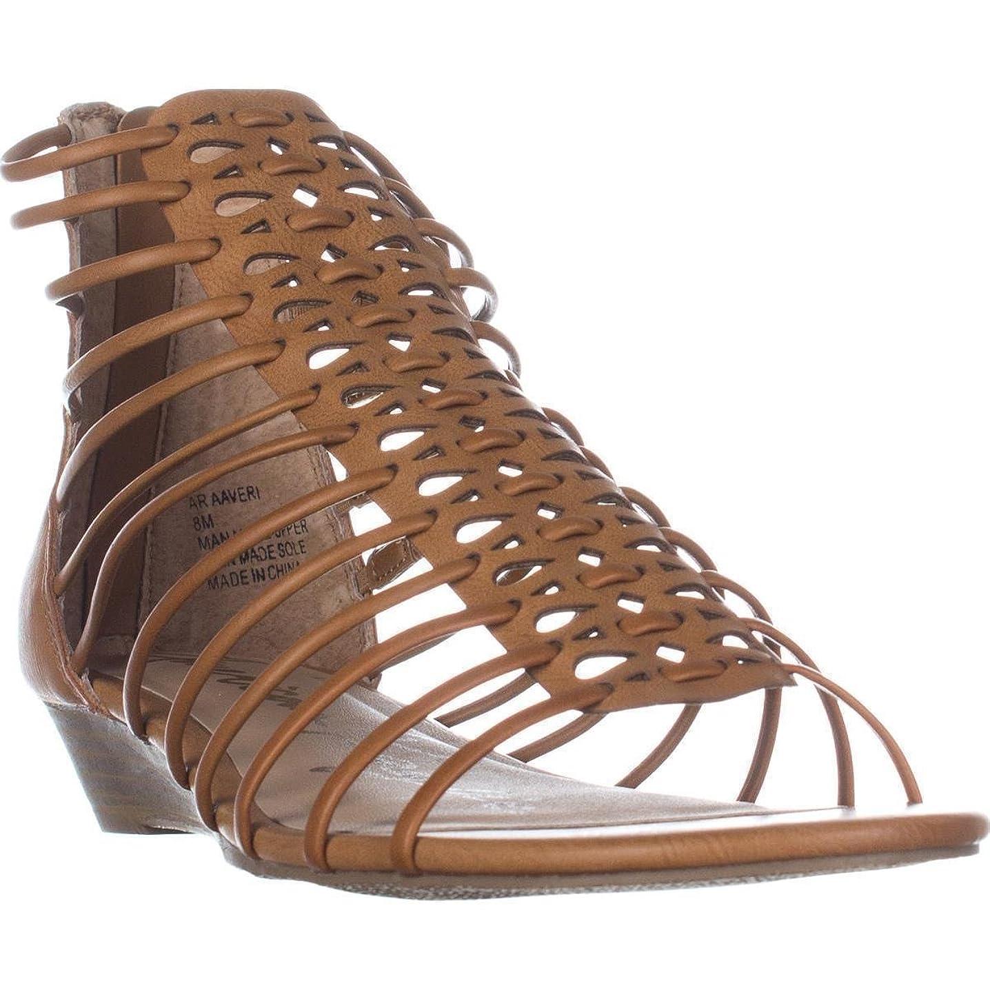 アストロラーベ市の中心部フィールドAmerican Rag Womens Averi Open Toe Casual Wedged Sandals, Brown, Size 6.5