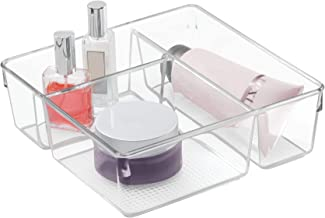 InterDesign Clarity Cosmetic Organizer for Vanity Cabinet to Hold Makeup, Beauty Products - Clear
