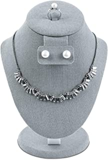 linen jewelry bust