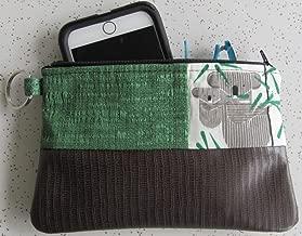 Clutch - Handmade Charley Harper Koala Bear Clutch - Brown Vegan Leather Bag