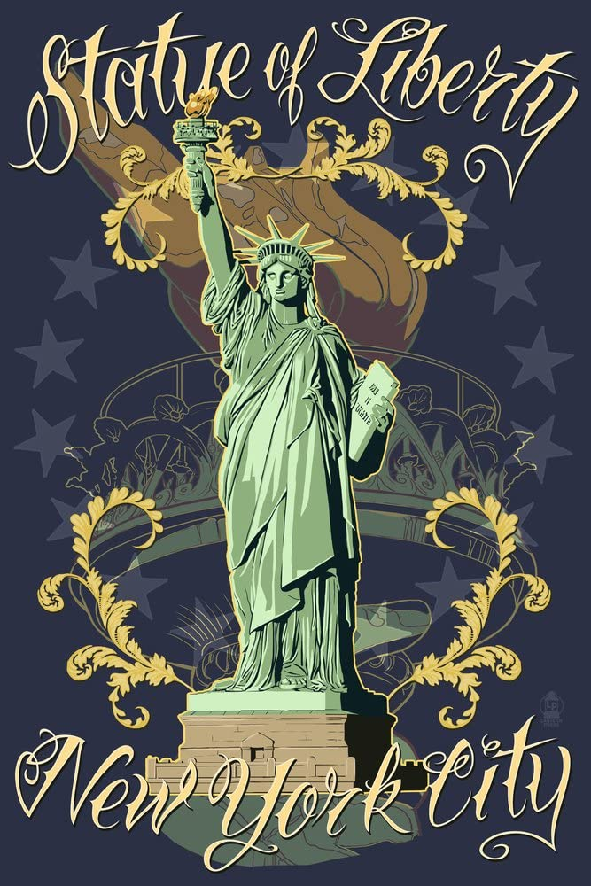 Statue of Liberty National Monument - Many popular brands York City New Max 79% OFF Blue NY