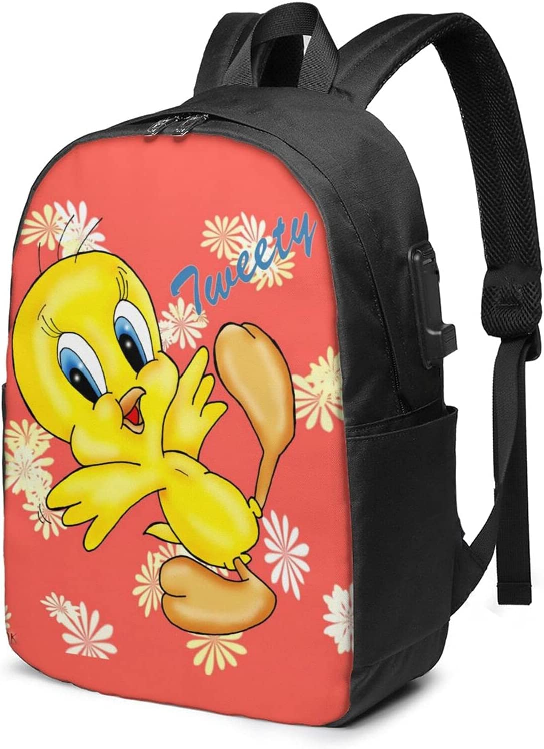 T-weety Bird School Bookbag Usb Ba Complete Free Shipping 17in Interface Laptop Max 44% OFF Daypack