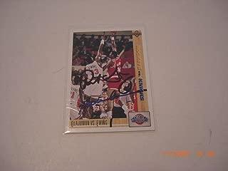Patrick Ewing & Hakeem Olajuwon Knicks,rockets Auto Scoreboard/stamp Signed Card - Basketball Autographed Cards
