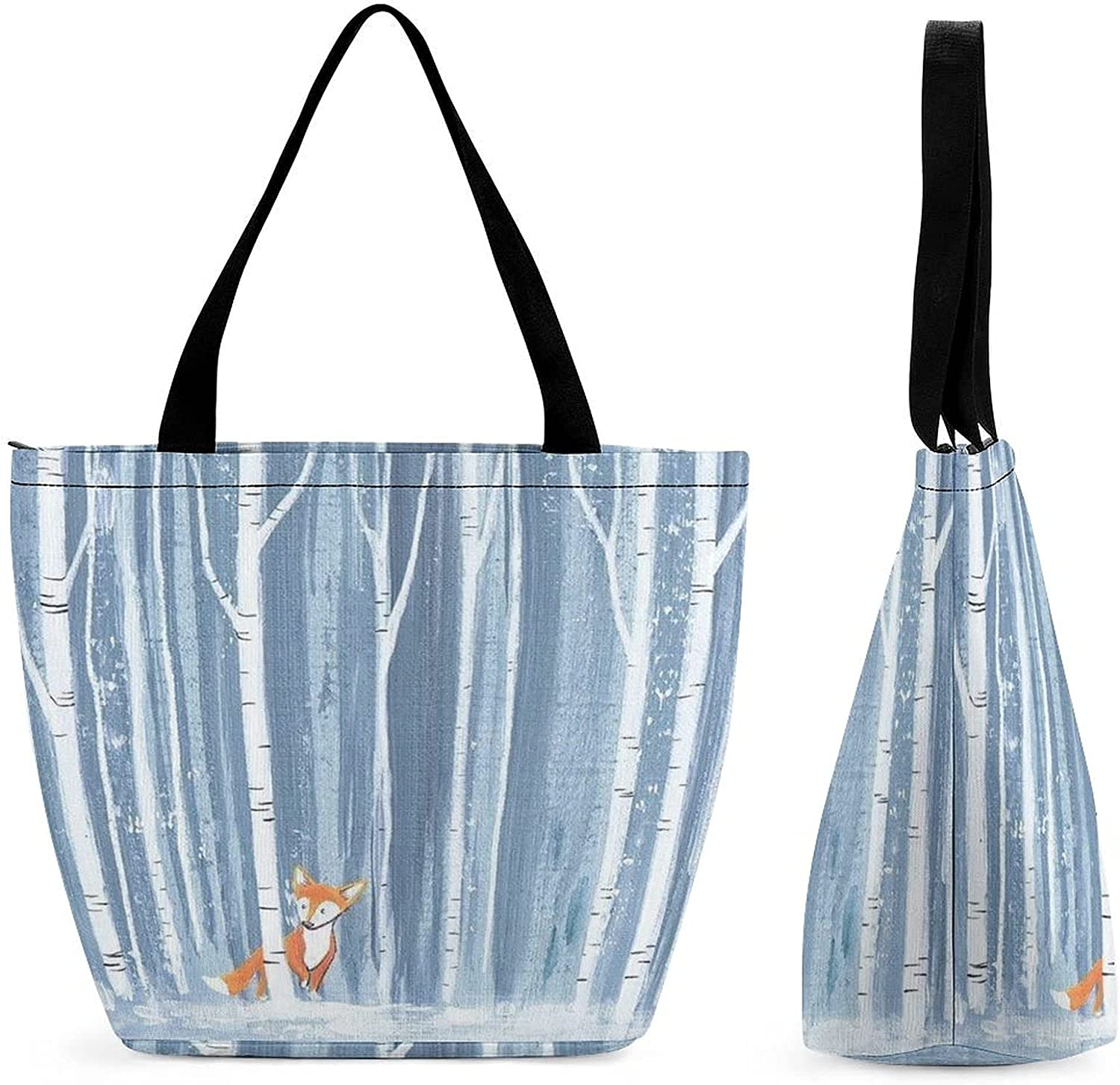 Fox in The Woods Womens' favorite Large Bag Tote Beauty products Should Reusable Capacity