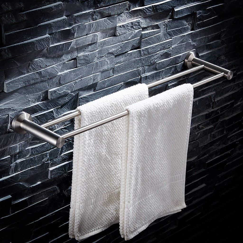 Achysj 304 Max 46% OFF Stainless Steel Towel Bar for Bathr Rack Double Ranking TOP19