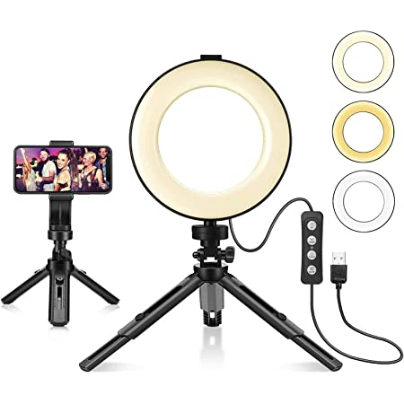 Kiptop Selfie Ringleuchte Stativ 6 Led Ringlicht Kamera