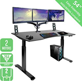 Seville Classics OFFK65816 Airlift S2 Electric Standing Desk with 54