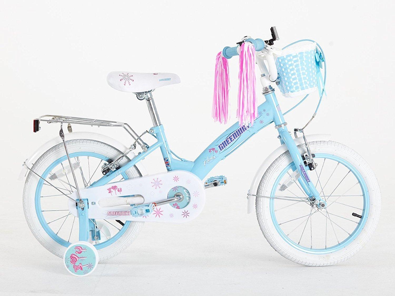 Bicicleta para niñas de 3 a 6 años, 40,6 cm, con ruedines, de ...