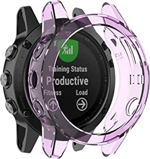 Fit for Garmin Fenix 5 Case, Colorful Silicone Protective Case Bumper Sleeve Shell Frame Protector Cover Accessories for G...