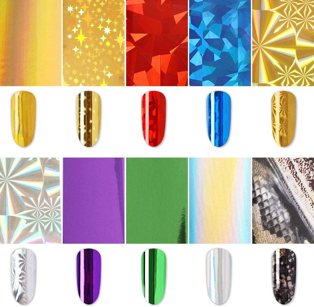 Nail Foil Transfer Sticker Decoration Transf We OFFer at cheap prices Kit 10pcs Al sold out.