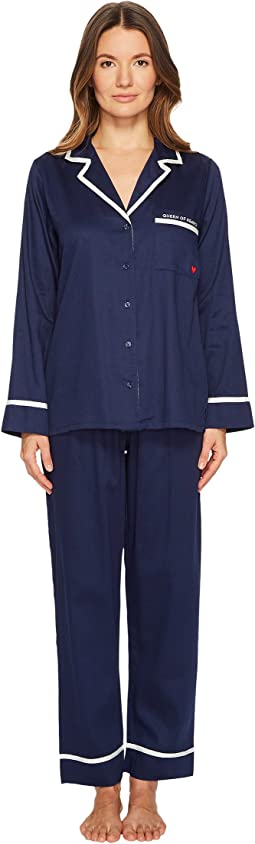 Kate Spade New York - Queen of Hearts Sateen Pajama Set
