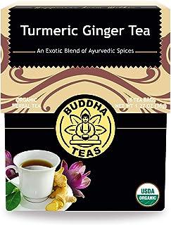 Buddha Teas Organic Turmeric Ginger Tea, 18 Bleach Tea Bags – Caffeine Free, Antioxidant, Antiviral, and Anti-Inflammator...