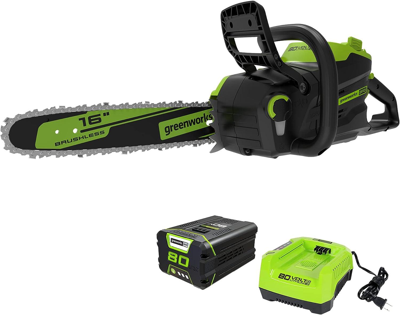Greenworks Pro CS80L2512 Cordless Chainsaw 80V