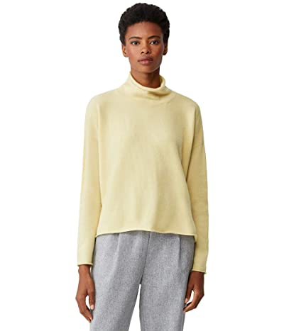Eileen Fisher Boxy Turtleneck Pullover Sweater in Italian Cashmere