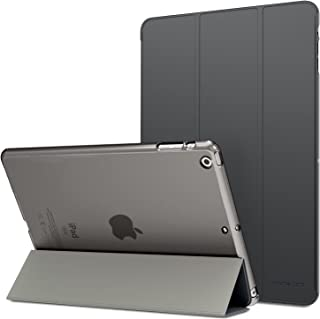 MoKo Funda para iPad Air - Ultra Slim Lightweight Función de Soporte Protectora Plegable Smart Cover Trasera Transparente ...