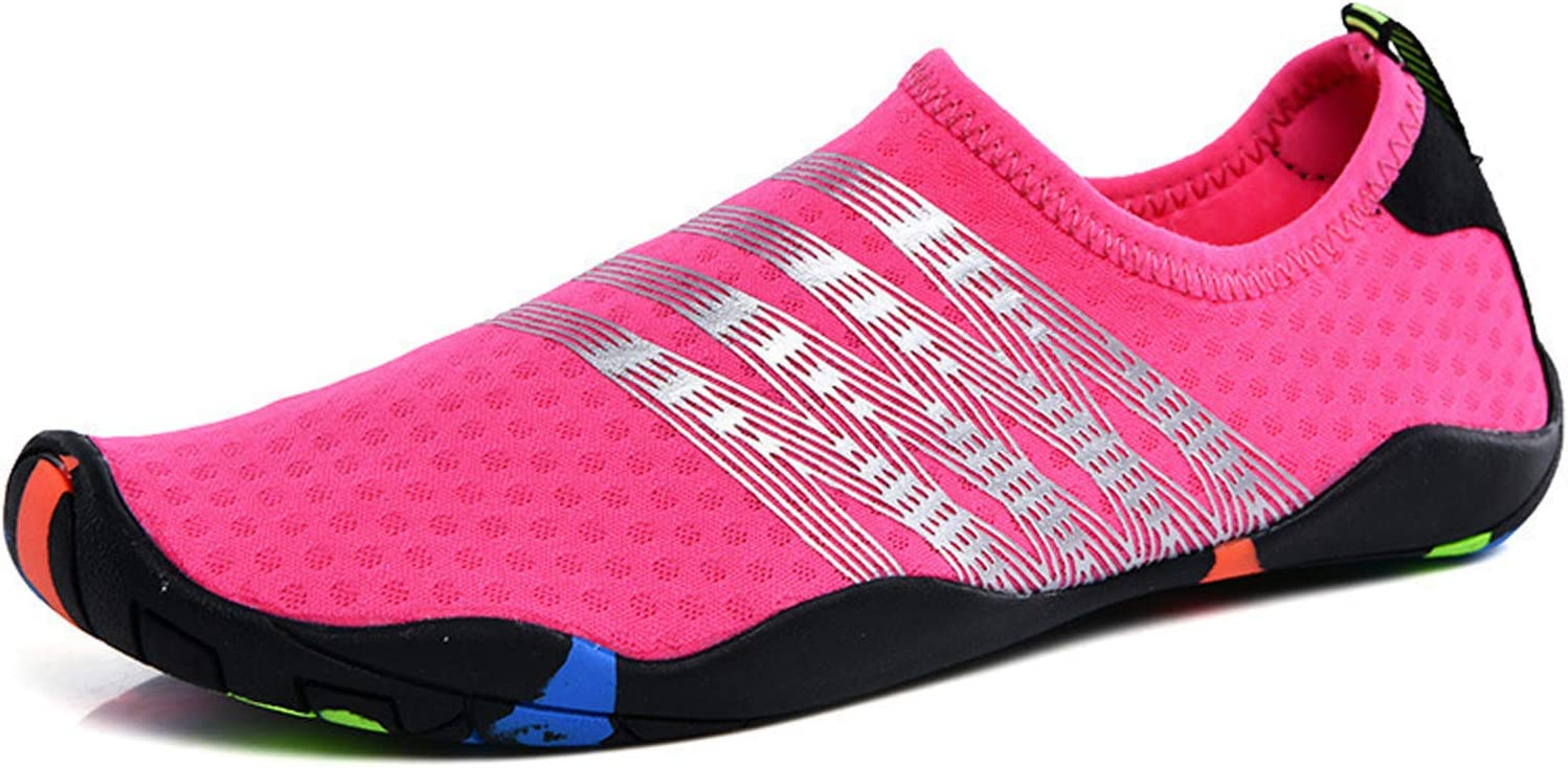 Outdoor Shoes Men and Women Wading Shoes Lovers Breathable Water Shoes Fashion Slip-on Fitness Hiking Shoes Wading Shoes,Pink,36