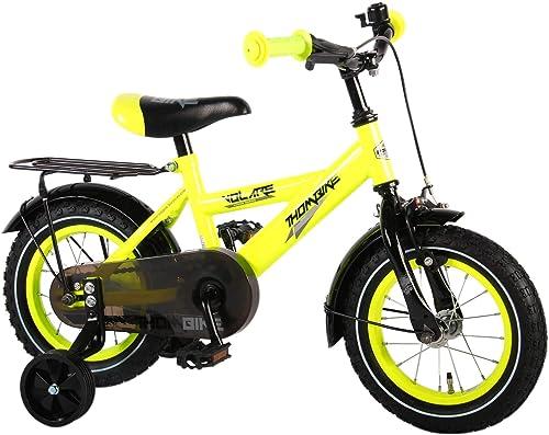 .Volare E&L Cycles Kinderfahrrad Thombike Neon Gelb 12 Zoll mit Rücktrittbremse