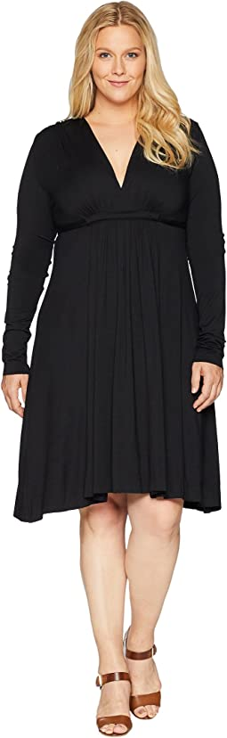 Plus Size Long Sleeve Caftan