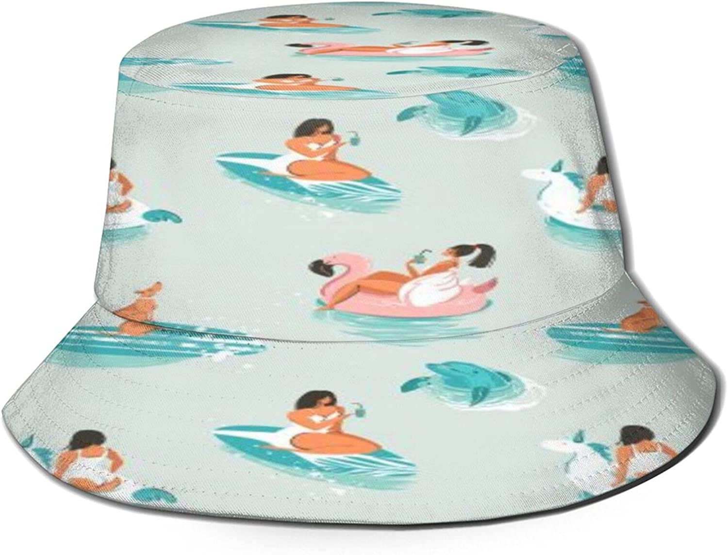 Pool Max 70% OFF Party Girls Dolphin Bucket Hat Summer Unisex Max 63% OFF Packab Sun