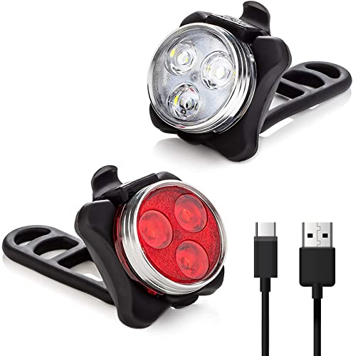 new arrival Vont 'Pyro' online sale Bike Light Set, USB Rechargeable, Super Bright Bicycle Light, Bike Lights Front and Back, Bike Headlight, 2X Longer Battery sale Life, Waterproof, 4 Modes (2 Cables, 4 Straps) outlet online sale
