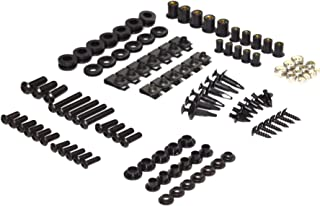 Black Complete Motorcycle Fairing Bolt Kit For Kawasaki Ninja ZX-10R 2006-2007 Body Screws, Fasteners, and Hardware