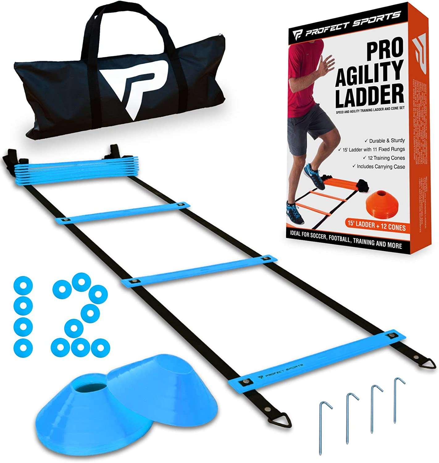 Pro Agility Sales results No. outlet 1 Ladder and Cones - 15 wit Speed ft Fixed-Rung