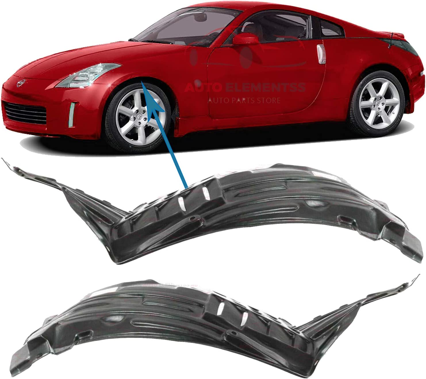 Details about  /Left Drivers Side Engine Splash Shield OEM For 98-04 Nissan Frontier 648373S500