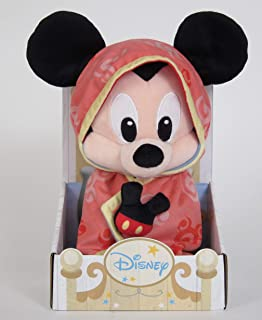 Disney Plush Mickey Blankee with Stand, Pink, 10 inch