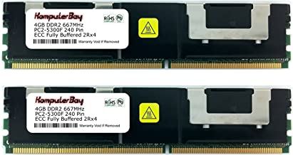 KOMPUTERBAY 8GB [2x4GB] FBDIMM Memory RAM DDR2-667 PC2-5300 Upgrade for the Dell PowerEdge 1950, 2900, 2950 Systems